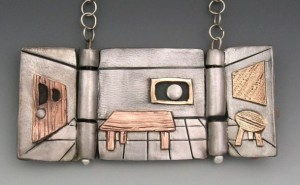 Locket by Hadar Jacobson. Steel, copper, and bronze.
